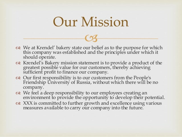 Business Plan Krendel Bakery