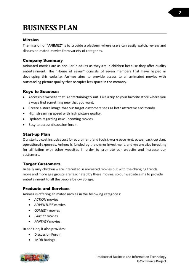 Technology Business Plan Template  Plan Template