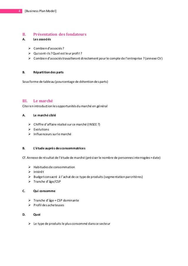 mod u00e8le de business plan   startups  u0026 entrepreneurs