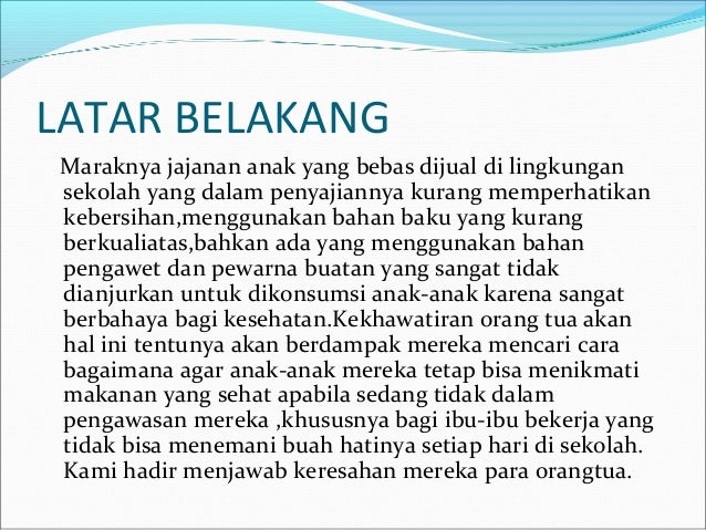 Business Plan Catering Sehat Anak Lc Catering