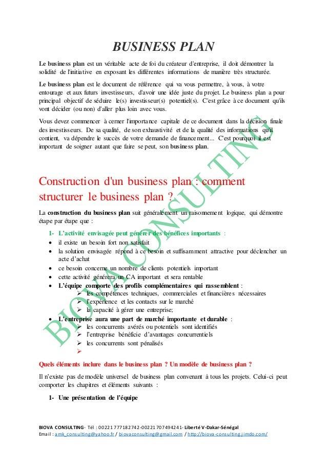 BIOVA CONSULTING- Tél : 00221 777182742-00221707494241- Liberté V-Dakar-Sénégal Email : amk_consulting@yahoo.fr / biovacon...