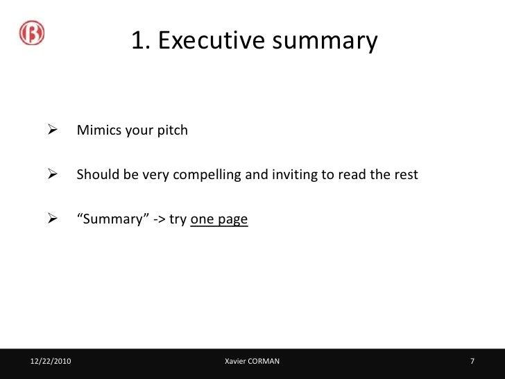 simple business plan format