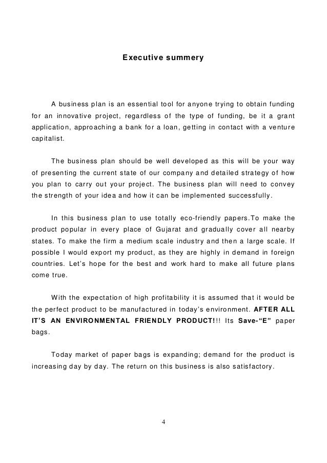 sample business plan for an eco bag Business plan for a fashion brand case: mw oy lahti university of applied sciences degree programme in international business thesis spring 2012.