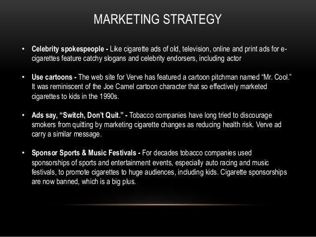 """e cigarette marketing plan 2017-11-09 all e-cigarette makers are agonizing over whether to raise  """"we are trying to prepare adequate supplies before launch to satisfy the growing demand,"""" said kt&g marketing executive oh chi  """"we plan."""