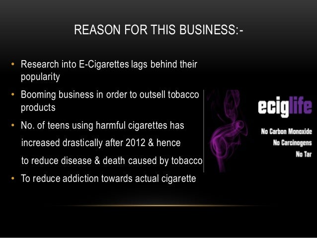 Starting an E-Cigarette Company – Sample Business Plan Template