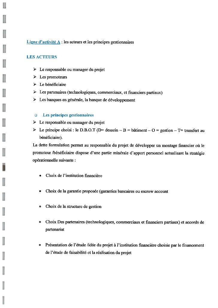 French translation of 'business plan'
