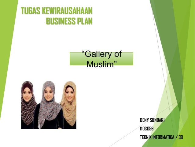 Business Plan Gallery Of Muslim
