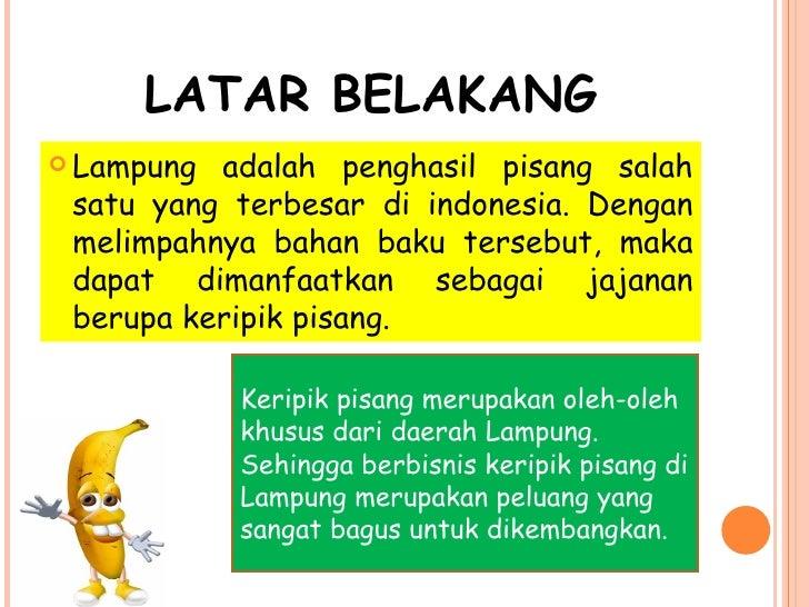 contoh business plan keripik pisang