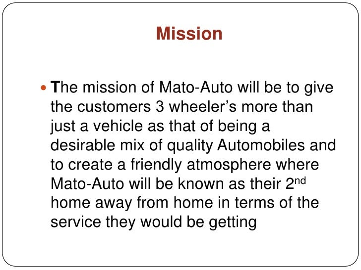 business plan for automobile industry ppt