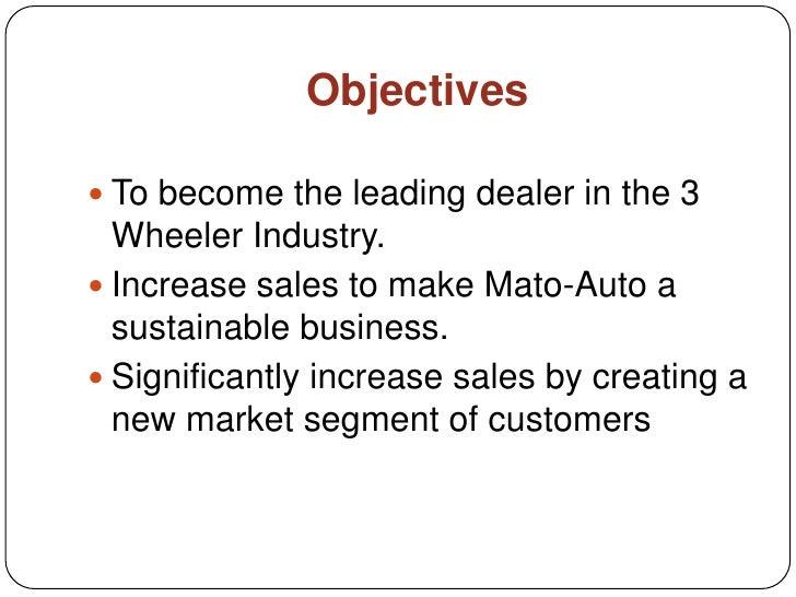 Auto Sales Business Plan