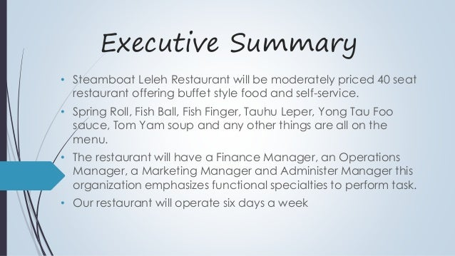 soup restaurant business plan