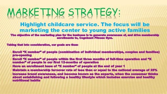 marketing plan for child care center