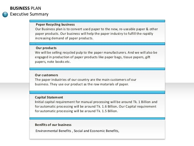 Recycling Waste Materials Conservation Sample Business Plan