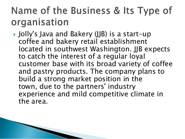 jollys java bakery business plan