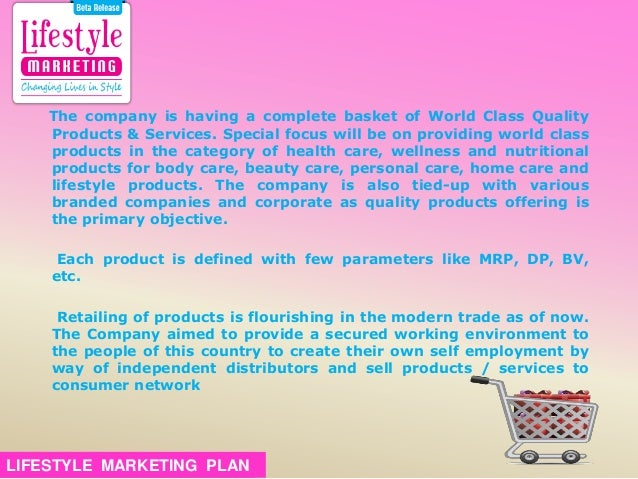 planlifestyle marketing plan 25
