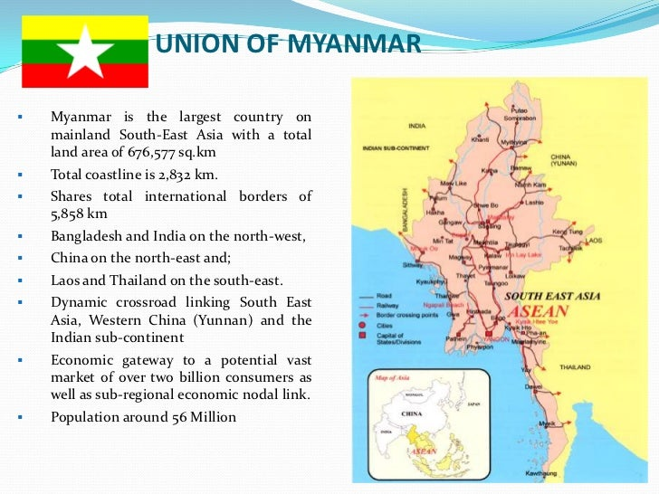 Myanmar Investment Opportunity New Special Economic Zone SEZ - Economic zones southeast asia map