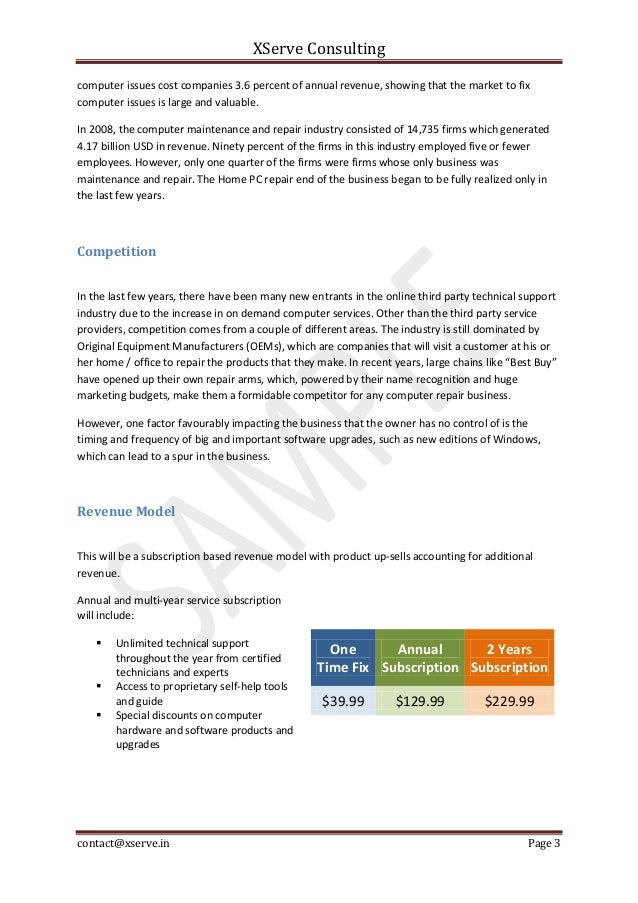 Home Maintenance Business Plan Home Plan