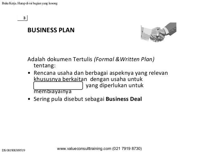 menurut bygrave business plan adalah