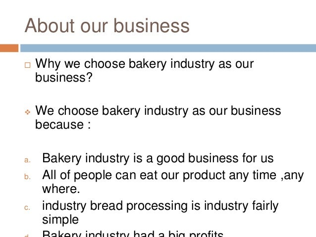 Bakery shop business plan