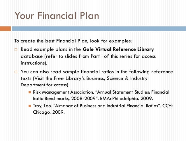 Business Plan Toolkit, Part 3 Of 3