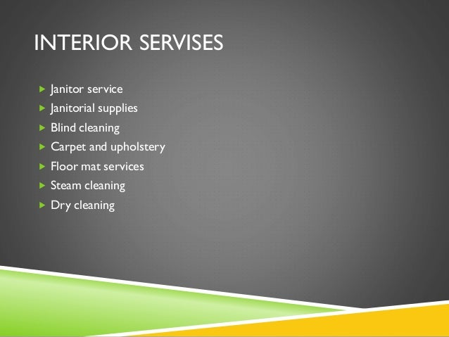 Business plan cleaning service