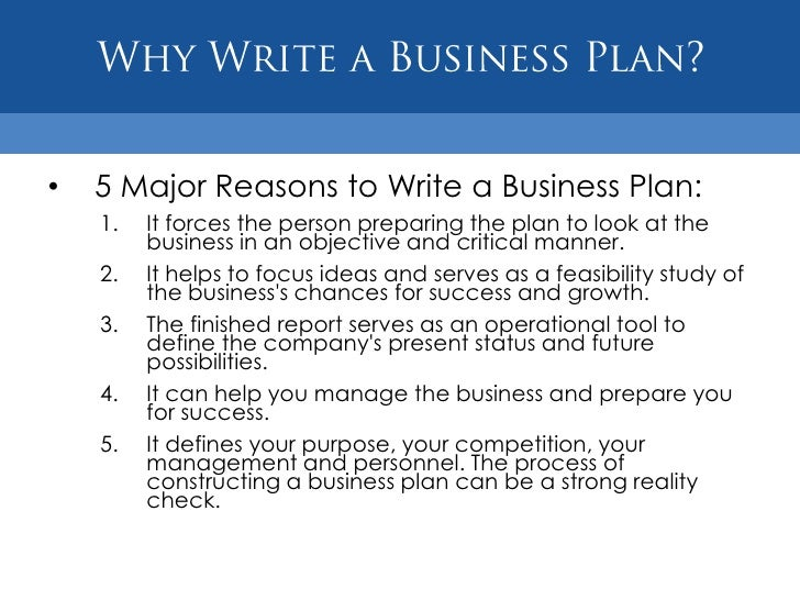 9 purpose of a business plan