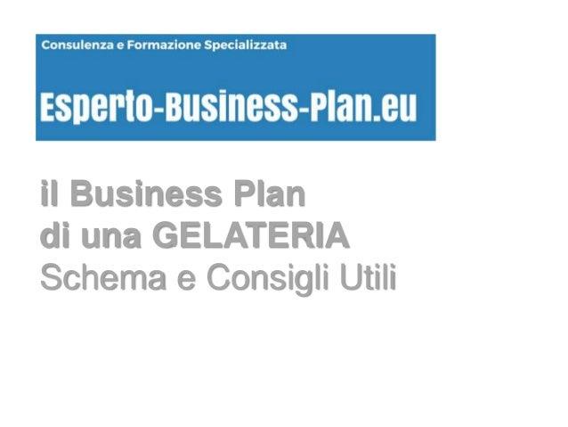 business plan apertura gelateria