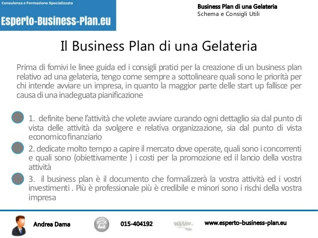 business plan apertura gelateria
