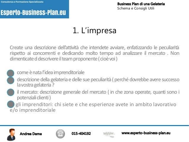 modello business plan gelateria