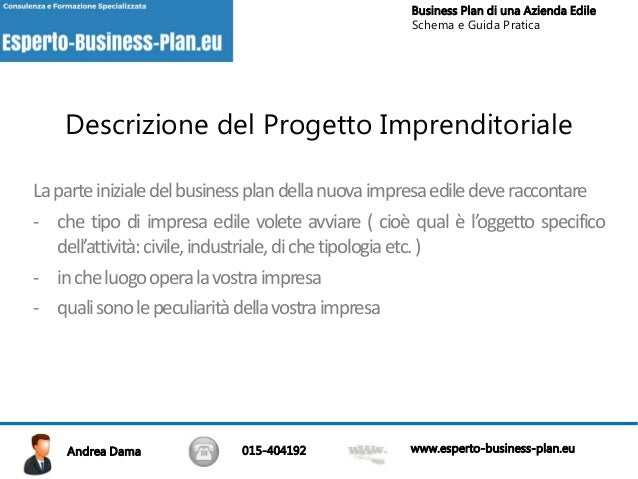 Business plan azienda edile