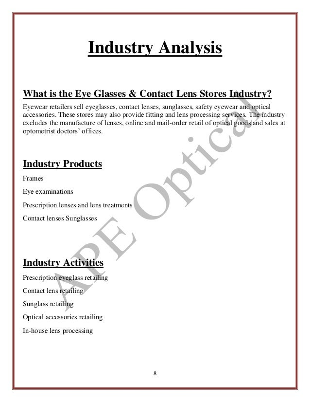 environmental and industry analysis business plan sample