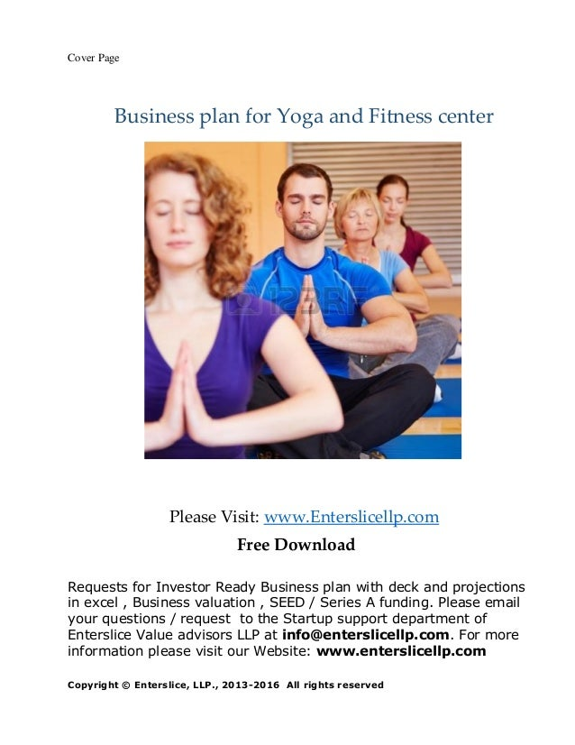 Business plan fitness center, yoga center