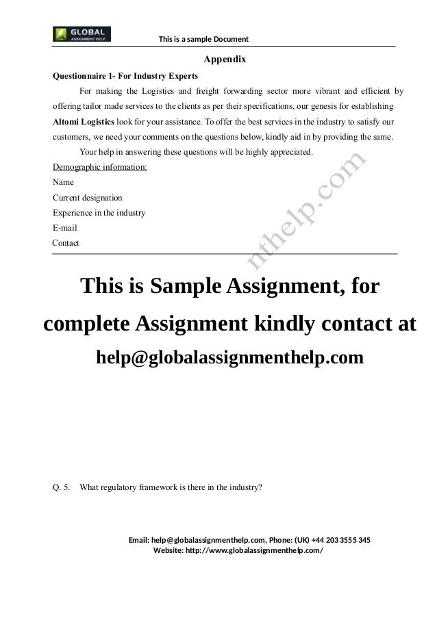 appendices in research paper sample