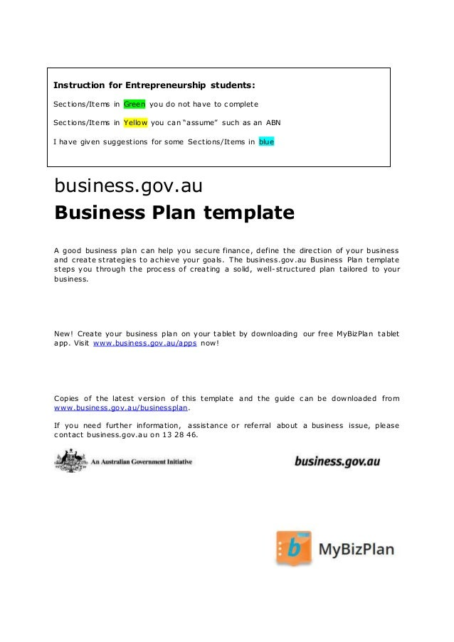 business plan ausgov