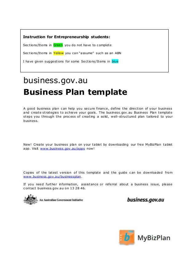 business plan ausgov