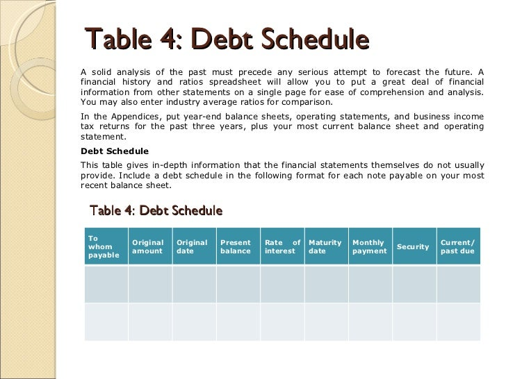 28 business debt schedule template amortization schedule business debt schedule template business plan for an established business wajeb Images