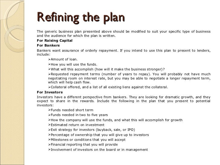 Generic business plan eczalinf generic business plan friedricerecipe Gallery