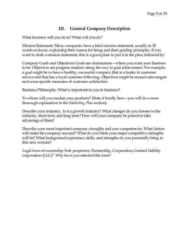 5 page 5 of 29 iii general company description
