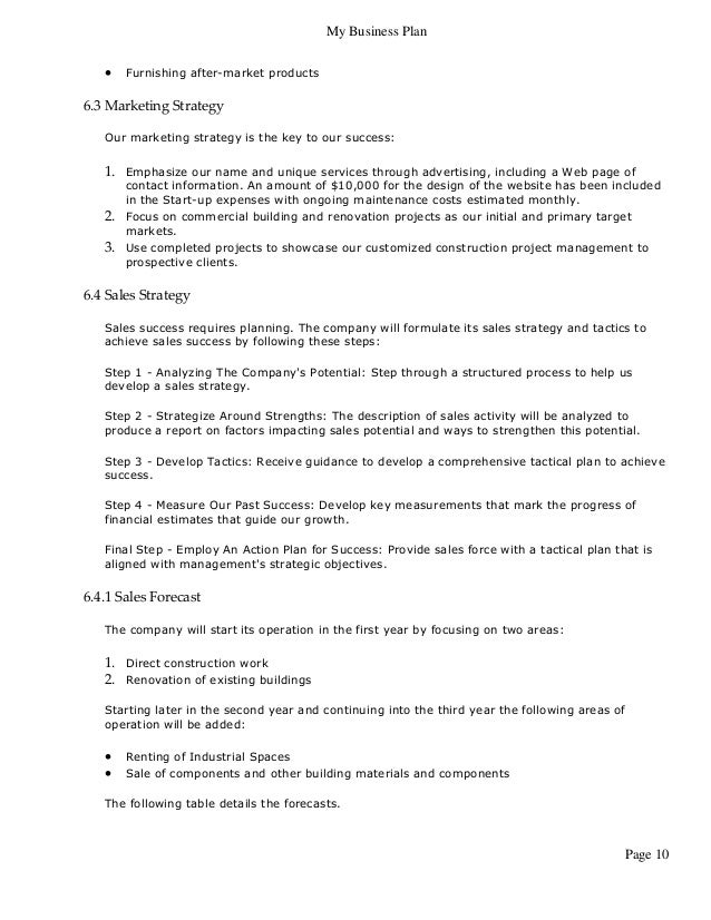scotiabank business plan template - business plan for construction services facebookthesis