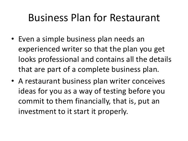 Business Plan For Restaurant - Simple restaurant business plan template