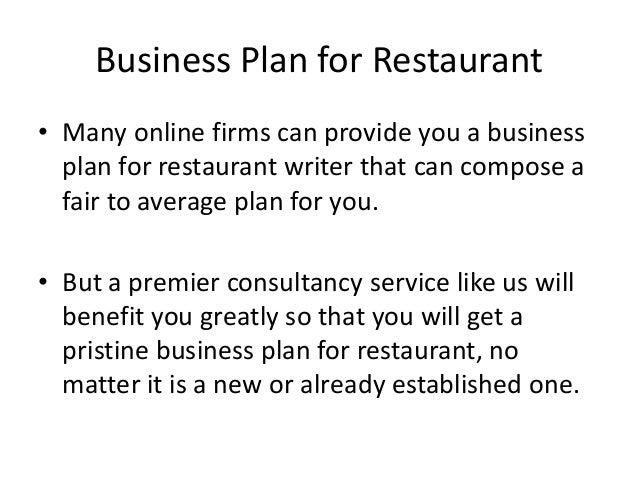 Business plan for restaurant