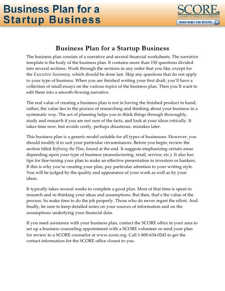 free business plan