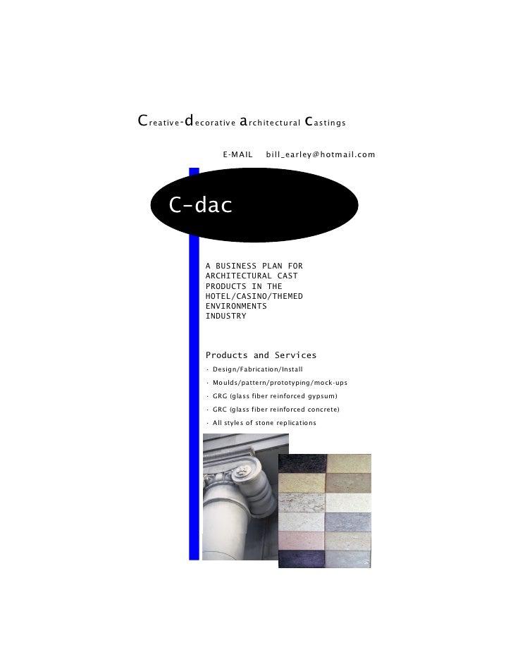 C reativ e - d ecorative a rchitectural c astings                      E-MAIL       bill_earley@hotmail.com            C-d...