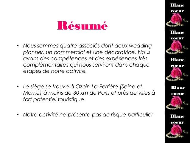 modele facture wedding planner