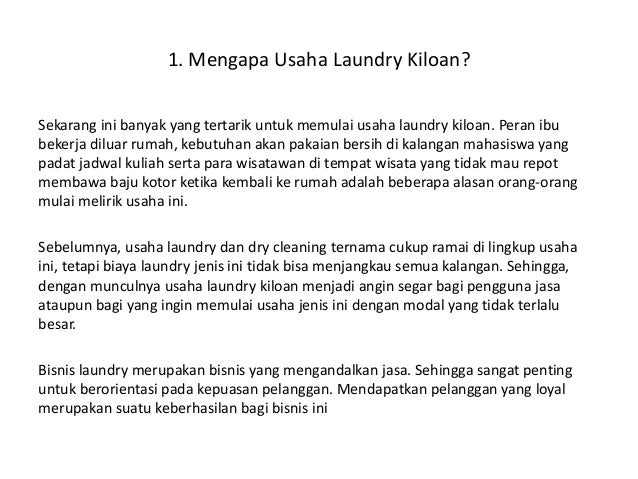 proposal business plan laundry kiloan