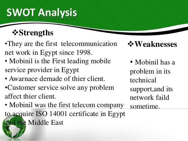 Swot analysis for orascom telecom holding