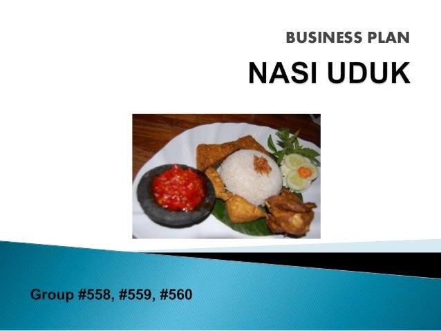 Business Plan Nasi Uduk
