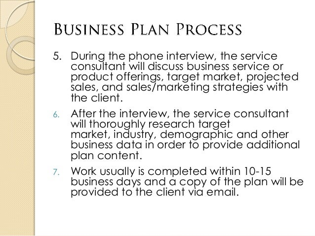 how to discuss a business plan
