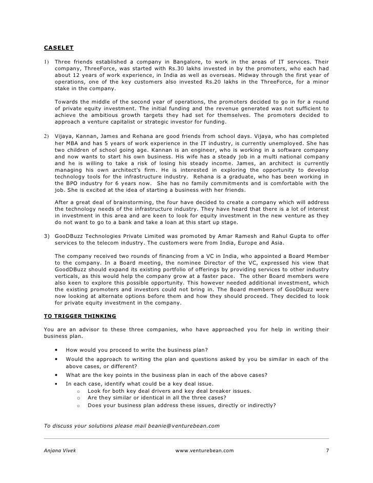Writing A Business Plan  Writing Of A Business Plan