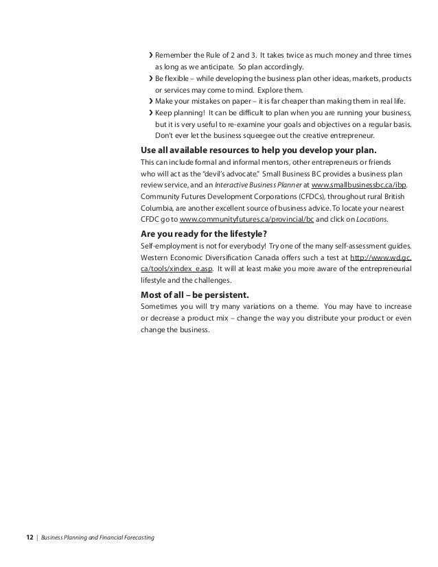 Write a business plan: step-by-step